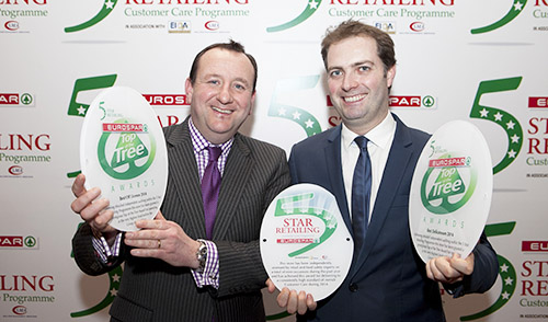 Pictured at the annual SPAR 5 Star Awards in Killashee House, Co Kildare are Ronan Malone and William Quinn both from EUROSPAR, Baltinglass Co Wicklow. Picture by Shane O'Neill / Fennell Photography.
