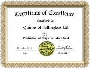 Quinns Limited Edition Magic Reindeer Food