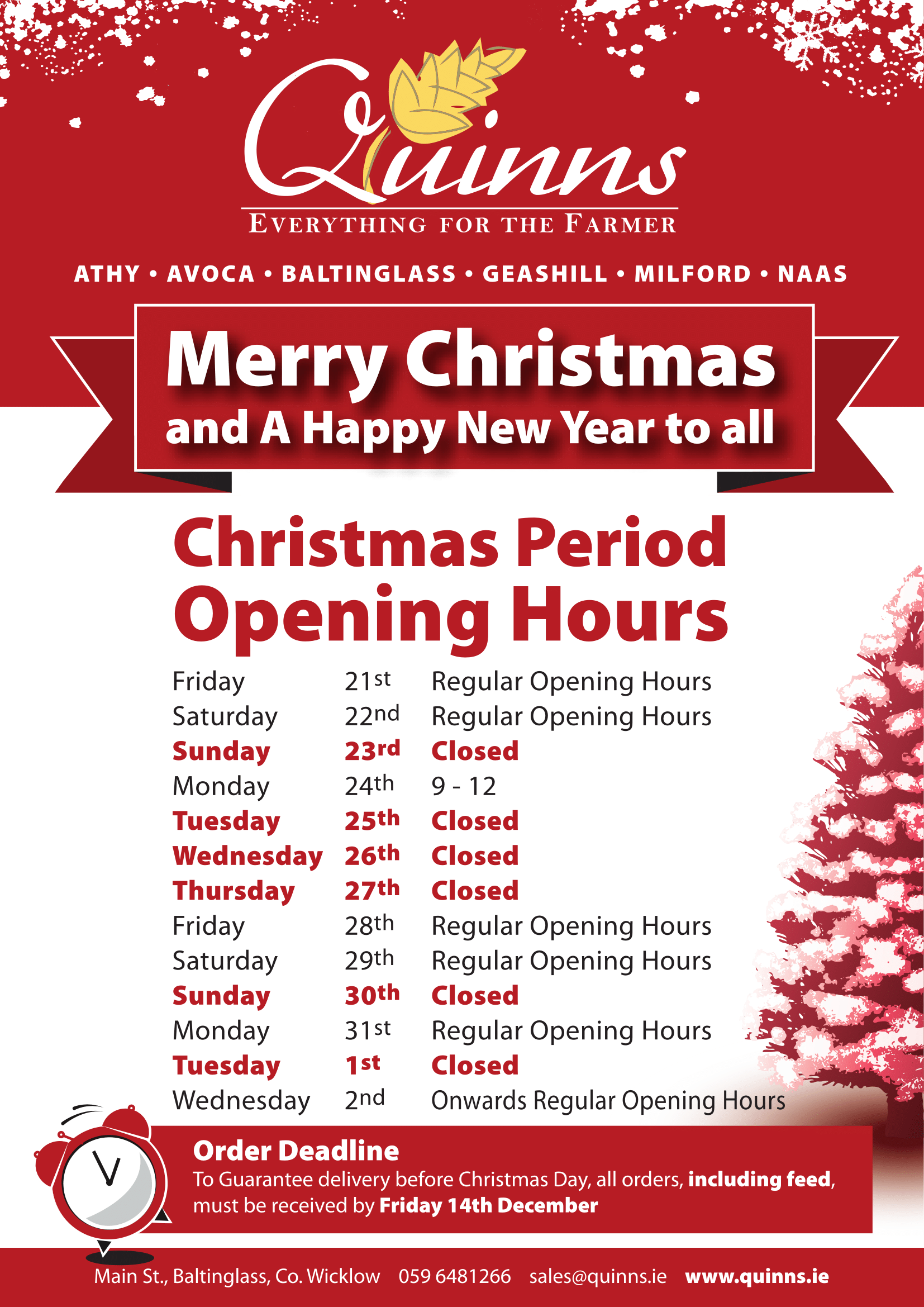 Quinns Christmas Opening Hours 2018 A4 copy-1