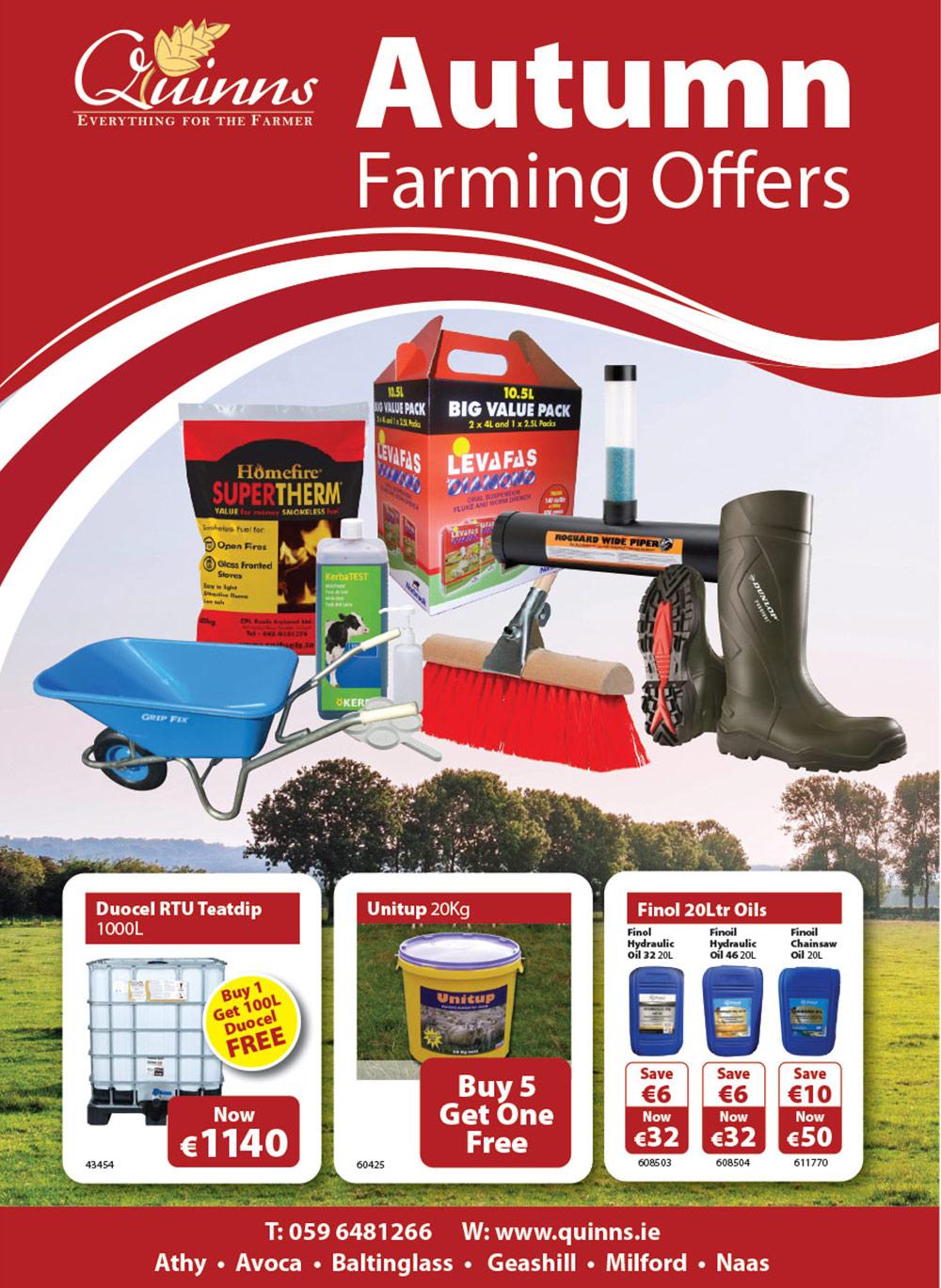 Quinns Autumn Farming Offers