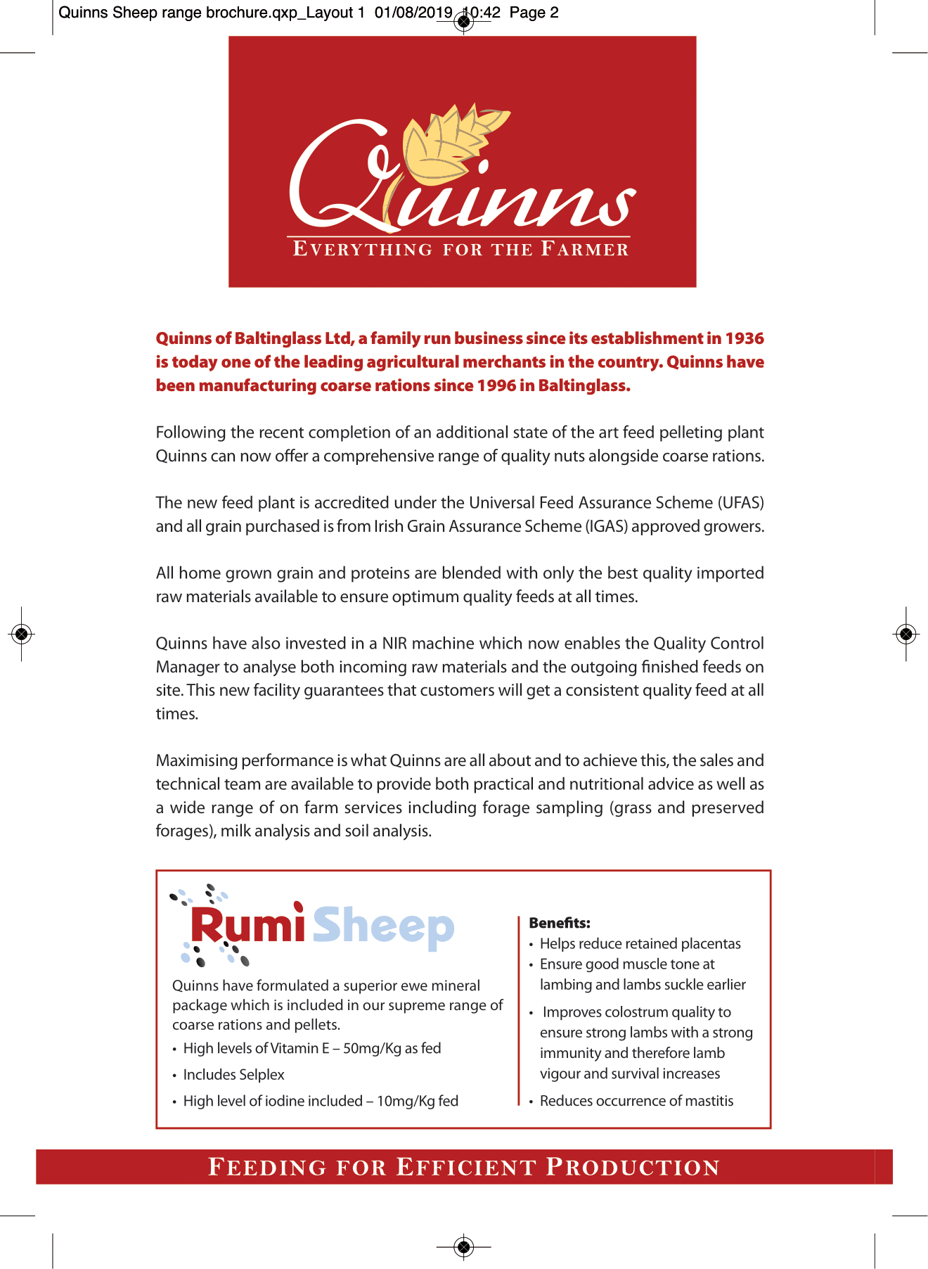 Quinns Sheep range brochure AW-2